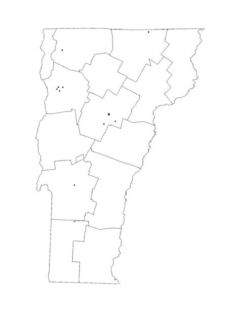 vermont map template   templates   word