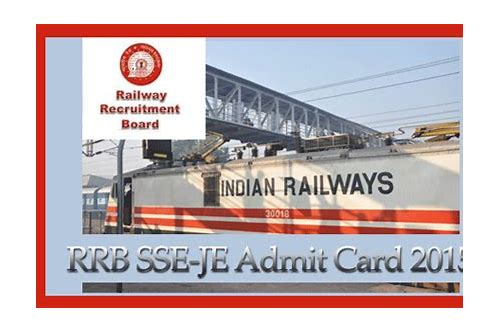 indian railway recruitment admit card download