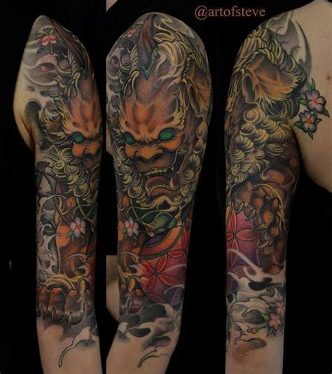 chronic ink tattoo toronto tattoo foo dog  sleeve