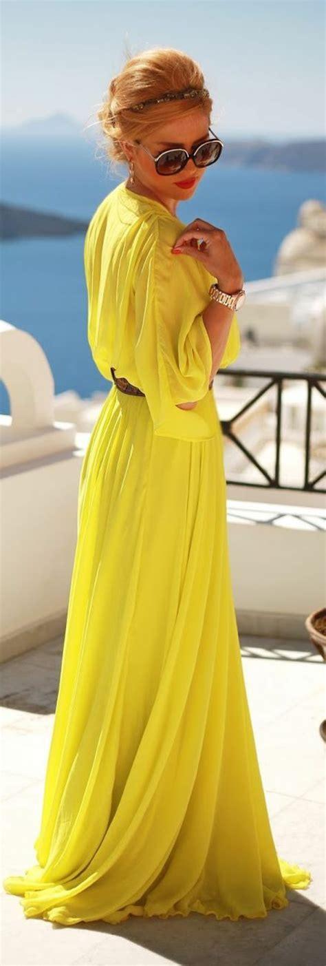 Gelbes Kleid  Modische gelbe Kleider 2016  Fresh Ideen