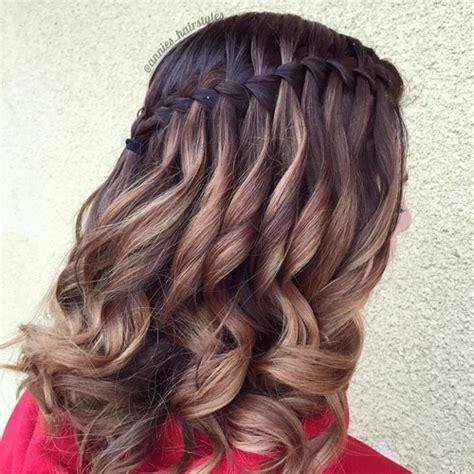 gorgeous waterfall hairstyles cute long hair style