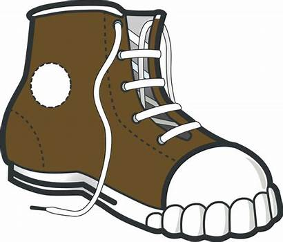 Clip Clipart Brown Sneaker Boot Shoe Boots