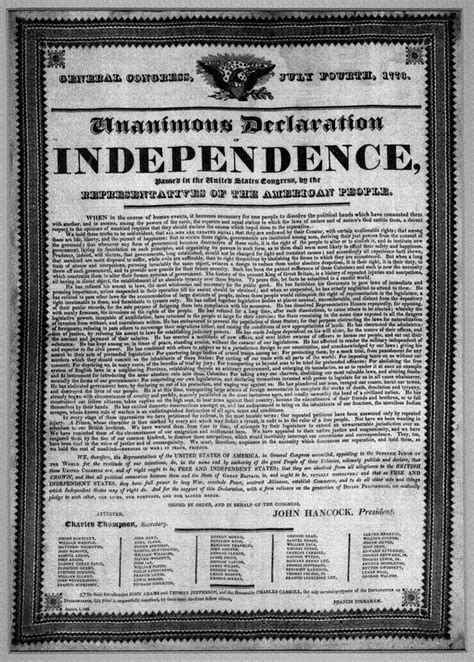 declaration printed text