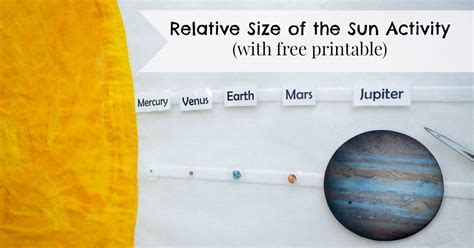 Relative Size of the Sun Activity (includes Free Printable ...