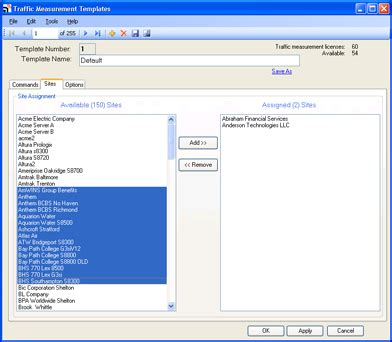 Cant Assing Template by Alarmtraq Support How To Assign Traffic Measurement