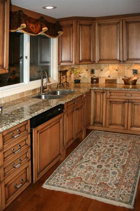colors for kitchens kitchens17l maple kitchen cabinets with burnt sugar glaze 6828