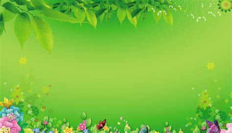 spring poster background psd