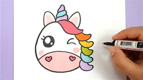 kawaii regenbogen einhorn emoji selber malen diy youtube