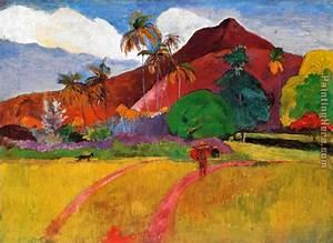 Paul Gauguin Tahitian Landscape painting anysize 50% off ...