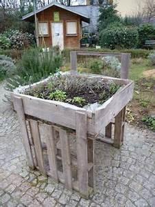 Creation Potager Surélevé : potager en carre avec des palettes en bois et potager ~ Premium-room.com Idées de Décoration