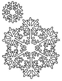 snowflake cutout patterns snowflakes coloring pages