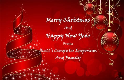 Wish Everyone Merry Christmas And Happy New Year With