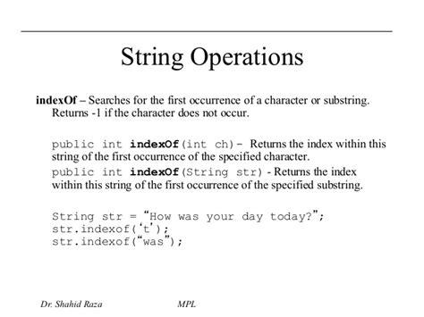 Arrays String Handling Java Packages