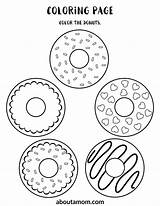 Donut Printable Activity Coloring Pages Print Sheets Word Bottom Drawing Game Maze Themed Fun Finish Match Aboutamom sketch template