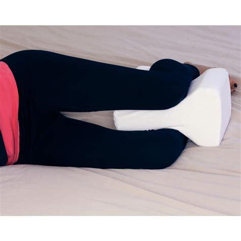 knee wedge pillow memory foam leg spacer for between knees contoured