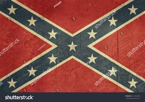 confederate flag colors confederate rebel grunge flag southern america stock