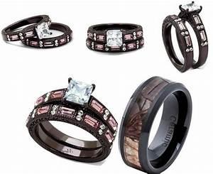 Pink Camouflage Wedding Ring Sets Caymancode