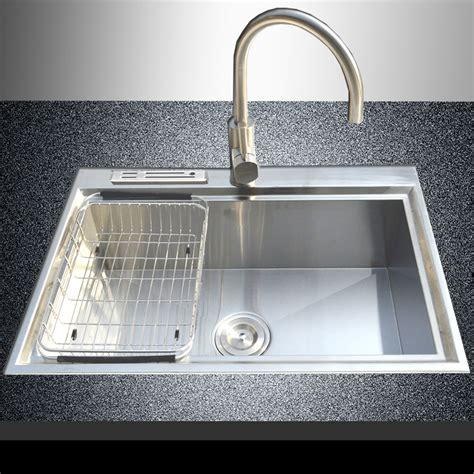 top mount single bowl kitchen sink 28 quot x 18 quot 18 stainless steel single bowl made 9486