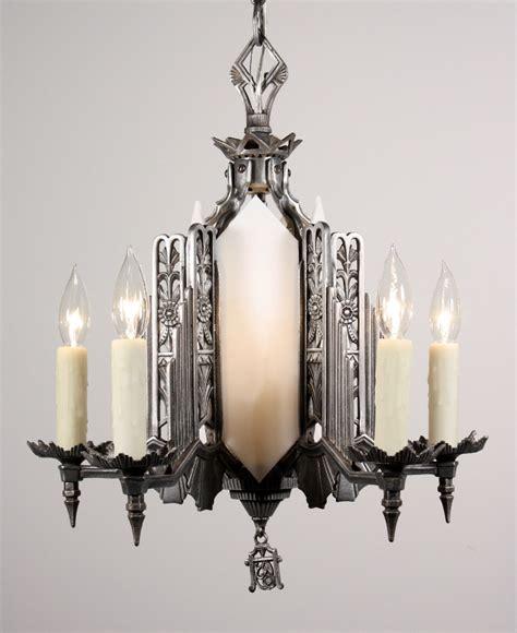 antique deco chandelier marvelous antique deco six light chandelier c 1930 s