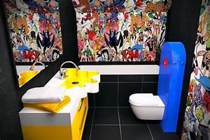 tapisserie pour toilettes ciabizcom With couleur de peinture tendance 4 avantapras des toilettes graphiques avec un papier