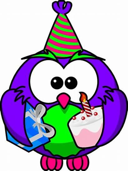 Birthday Clip Owl Clipart Vector Clker Happy
