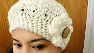 Gorro con Flor en Crochet(ganchillo)Para Niña y Mujer YouTube