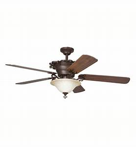 "Kichler 300006CZ Wilton 60"" Indoor Ceiling Fan with 5 ..."