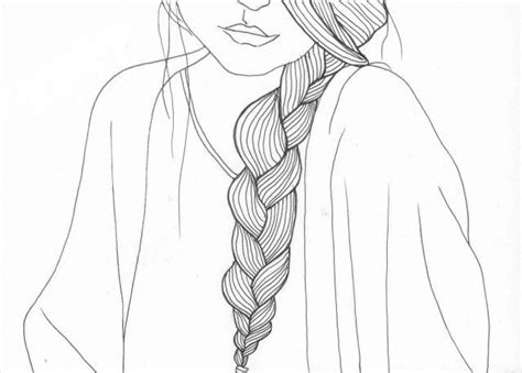 shoulder braid  drawing hair styles