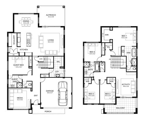 5 bedroom house plans 2 5 bedroom house designs perth storey apg homes
