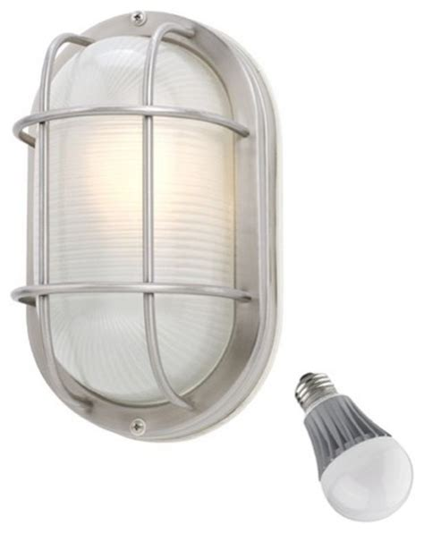 oval bulkhead marine light with led bulb 11 inches wide