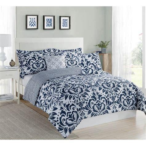 xl comforter sets studio 17 anson damask navy 4 xl comforter set