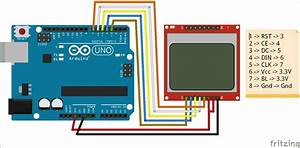 Circuit Diagram For Interfacing Nokia 5110 Graphical Lcd