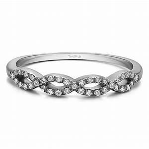 015 carat pave set infinity wedding ring With 15 carat wedding ring