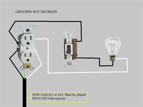light switch with outlet light switch to outlet wiring diagram outlet to switch to