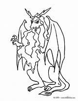 Dragon Feu Coloriage Crache Qui Coloring Drachen Imprimer Dragons Flamme Malo Flame Colorear Ausmalbilder Colorier Medieval Chevaliers Dessin Belching Flames sketch template
