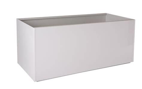 White Red Black Gray Rectangular Trough Metal Planter Box