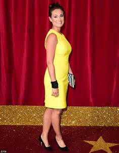 Bright Green Carpet by Kym Marsh Steps Out Solo In White Cut Out Dress As Love