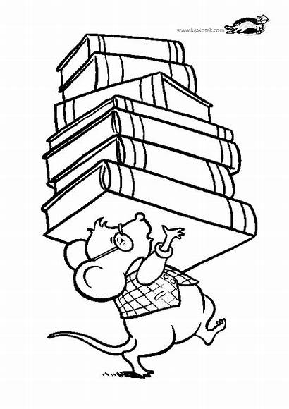 Coloring Library Pages Mouse Krokotak Books Lot
