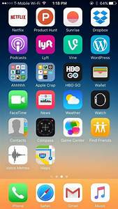 Change layout home screen iphone 4