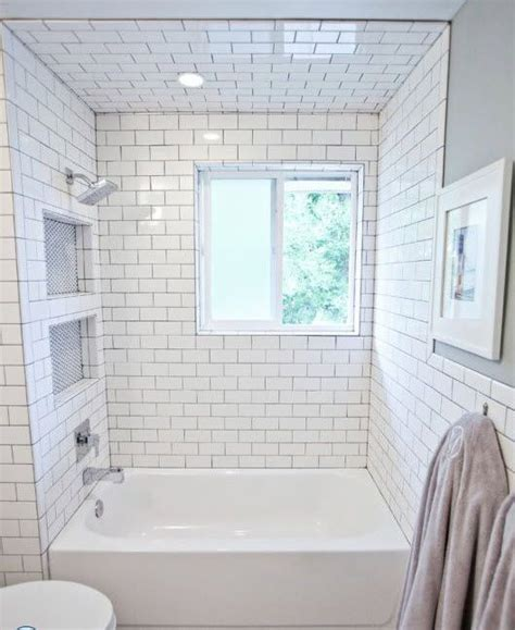 Bathrooms With Subway Tile Ideas by 29 White Subway Tile Tub Surround Ideas And Pictures