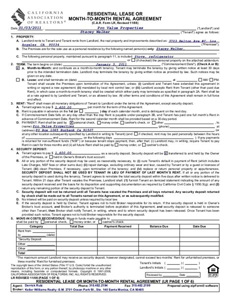 illinois association of realtors forms 3703 kelton unit c m to m rental agreement