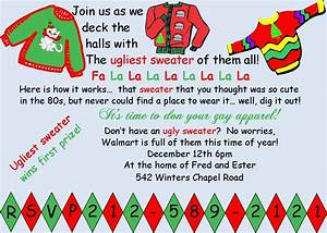 ugly sweater party invitations templates free all With ugly sweater christmas party invitations template