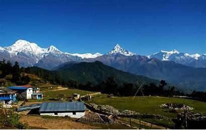 Pokhara Camp Australian Annapurna Dhampus Range Southa
