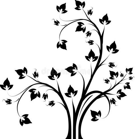 decoratieve bloemen zwart witte tak vector illustratie illustratie bestaande uit gevormd