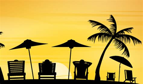 Car Wallpapers Free Psd Files Silhouette by Vector Sunbeds Silhouette Material 02 Free