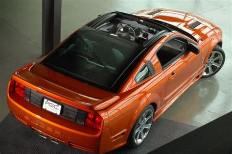 saleen unveiling power sliding glass roof   mustang