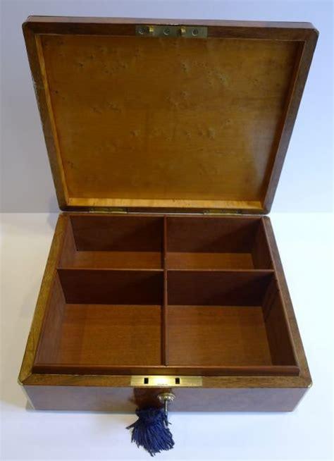Cigar Cabinet Humidor Uk by Antique Brass Bound Burl Walnut Cigar Box