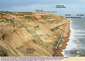 Geology of Hordle Cliff, Hampshire