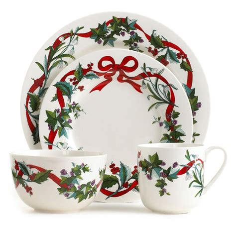 dinnerware christmas holiday martha stewart sets collection garden dining plates amazon rated macy place dishes china xmas tableware casual entertaining