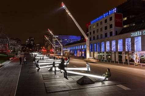 interactive seesaws on the streets of montreal emit light